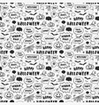 happy halloween hand drawn seamless pattern vector image