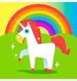 Happy Unicorn vector image vector image