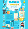 home wash and laundry service poster vector image vector image