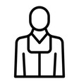 judge avatar icon outline style vector image vector image