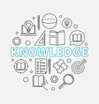 knowledge round in thin line vector image vector image