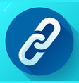 link icon hyperlink chain symbol link vector image vector image
