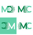 mc letters logo with accent speed in light green