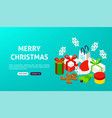merry christmas banner concept vector image