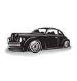 monochrome hot rod icon vector image vector image
