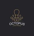 octopus logo - emblem design vector image