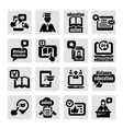 online education concept icons set vector image vector image