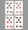 Playing cards seven vector image vector image