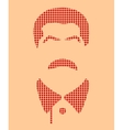 Portrait of Joseph Stalin Flat icon style vector image