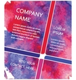 Poster Template with Watercolor Paint vector image vector image