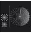 Radar screen vector image vector image