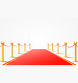 red event carpet on white background vector image