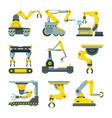 robotic hands for machine industry vector image
