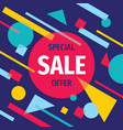 sale discount concept banner design abstract prom vector image