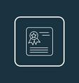 school award icon line symbol premium quality vector image vector image