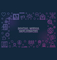 social media influencer concept linear colored vector image