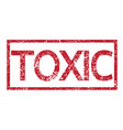 stamp text toxic vector image vector image