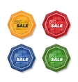 Summer sale polygonal stickers vector image