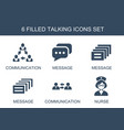 talking icons vector image vector image