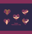 The icons on the food theme for design lovers vector image