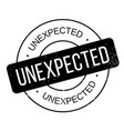 unexpected rubber stamp vector image vector image