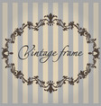 vintage frame flower ornament color vector image