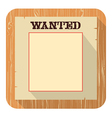 Wanted poster icon flat style design vector image vector image