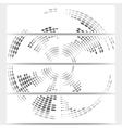 Web banners set of header layout templates circle vector image vector image