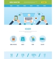 Web design template with icons of mobile marketing vector image vector image