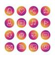 web social network social media vector image vector image