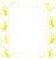 white lily flower banner card border vector image