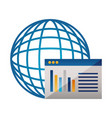 world website page data vector image