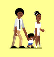 young afro american family vector image