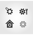 Gear icons set flat design vector image
