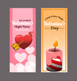 flyer design of valentine day party vector image