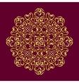 lacy golden mandala vector image