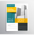 modern business brochure template design in clean vector image