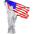 stylish american design US Independence Day July vector image