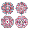 Colorful mandalas in oriental style vector image