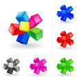 abstract colored cubes set vector image vector image