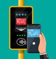 airport metro bus subway ticket validator vector image vector image