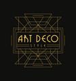 art deco style logo luxury vintage geometric vector image vector image