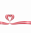 austrian flag heart-shaped ribbon vector image