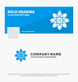 blue business logo template for atom nuclear vector image