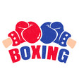 boxing emblem vector image vector image