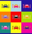 car tire repair service sign pop-art vector image vector image
