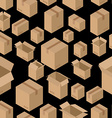 Cardboard box seamless pattern Paper packaging vector image