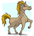 cartoon cute little standing horse icon vector image vector image
