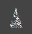 christmas tree light style vector image vector image