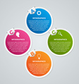Circle business options infographics template vector image vector image